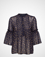 French Connection Mahi Sheer Pleated Blouse