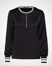 Scotch & Soda Sporty Shiny Top With Zip And Ribs