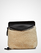 Royal Republiq Vertigo Shearling Evening Bag Natural
