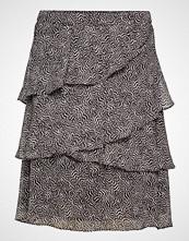 Michael Kors Striped Feather Skirt