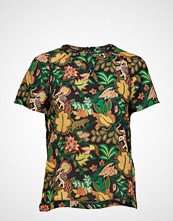 Scotch & Soda Short Sleeve Top With Ladder Inserts In Various Prints
