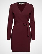 Diane von Furstenberg L/S V-Neck Knit Wrap Dress