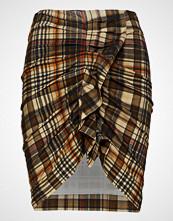 Mango Check Corduroy Skirt