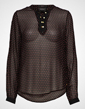Scotch & Soda Viscose Top With Lace Up Detail