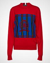 Hilfiger Collection Hc Crest Needle Punch Sweater Strikket Genser Rød HILFIGER COLLECTION