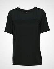 Scotch & Soda Jersey Top With Woven Panels And Ladder Details
