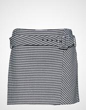 Mango Houndstooth Belt Miniskirt