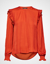 Scotch & Soda Top With Ruffles And Smock Detail
