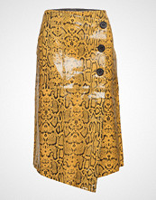 Coster Copenhagen Long Wrap Skirt In Snake Effect