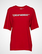 Cheap Monday Perfect Tee Cheap Review T-shirts & Tops Short-sleeved Rød CHEAP MONDAY