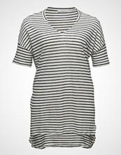 Violeta by Mango Striped Linen T-Shirt