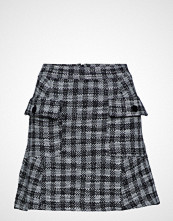 Mango Check Tweed Skirt