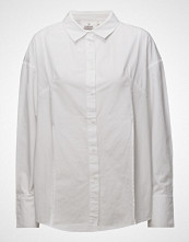 Cheap Monday Seize Poplin Shirt Langermet Skjorte Hvit CHEAP MONDAY