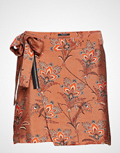 Scotch & Soda Wrapover Skirt In Print And Solid