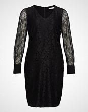 Violeta by Mango Puffed Sleeves Guipur Dress