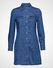 Calvin Klein Indigo Tencel Shirt,