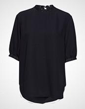 Calvin Klein Lace Collar Blouse S Bluse Kortermet Svart CALVIN KLEIN