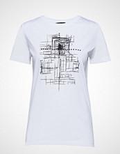 Bruuns Bazaar Cleo Tee T-shirts & Tops Short-sleeved Hvit BRUUNS BAZAAR