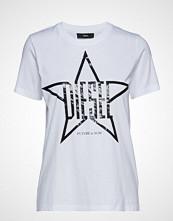 Diesel Women T-Sily-Za T-Shirt T-shirts & Tops Short-sleeved Hvit DIESEL WOMEN