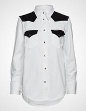 Calvin Klein Foundation Western S Langermet Skjorte Hvit CALVIN KLEIN JEANS