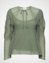 3.1 Phillip Lim Ls Textured Silk Blouse W Overlay