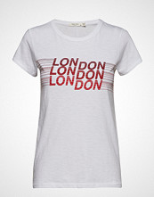 Rag & Bone London Tee T-shirts & Tops Short-sleeved Hvit RAG & B