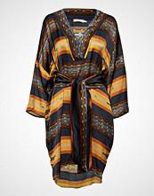 Rabens Saloner Mixed Stripe Kaftan Dress