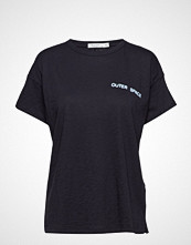 Rag & Bone Outer Space Emblem Vintage Crew T-shirts & Tops Short-sleeved Svart RAG & B