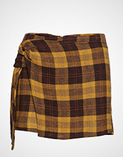 Mango Check Skirt Pants
