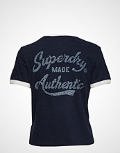 Superdry Heritage Embroidery Ringer Boxy Tee