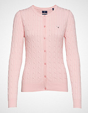 Gant Stretch Cotton Cable Crew Cardigan