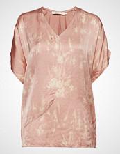 Rabens Saloner Wave Asymmetric Top Bluse Kortermet Rosa RABENS SAL R