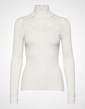 Rosemunde Silk T-Shirt Turtleneck Regular Ls W/Wide Lace