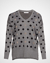 Violeta by Mango Metallic Polka Dot Sweater