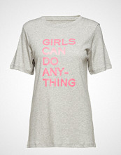 Zadig & Voltaire Bella Tee-Shirt Coton Interlock Print Girls Can Do