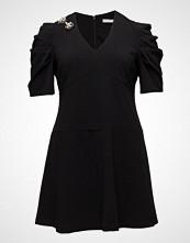 Violeta by Mango Appliqus Puffed Sleeves Dress
