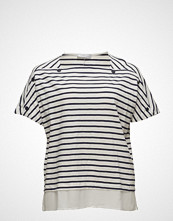 Violeta by Mango Buttoned Striped T-Shirt