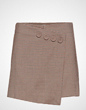 Mango Houndstooth Skirt Pants