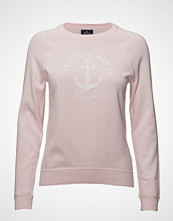 Park Lane Pullover With Logo Strikket Genser Rosa PARK LANE