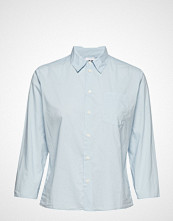 Hope Zand Shirt Langermet Skjorte Blå HOPE