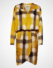 Rabens Saloner Geometric Wrapover Short Dress