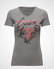 GUESS Jeans Ss Vn Roses T-Shirt