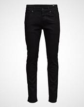 Selected Homme Slhslim-Leon 1001 Black St Jns W Noos Slim Jeans Svart SELECTED HOMME