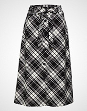 Mango Check Flared Skirt