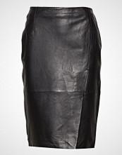Selected Femme Slfaria Mw Long Leather Skirt W