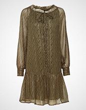Scotch & Soda Lurex Printed Dress With Peplum