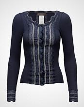 Rosemunde Silk Cardigan Regular Ls W/Wide Lac