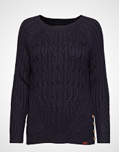 Superdry Hester Cable Jumper Strikket Genser Blå SUPERDRY
