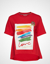 Hilfiger Collection Th Capsule Tshirt Ss T-shirts & Tops Short-sleeved Rød HILFIGER COLLECTION