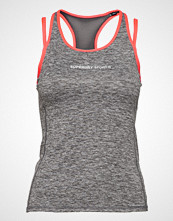 Superdry Superdry Gym Duo Strap Vest T-shirts & Tops Sleeveless Grå SUPERDRY